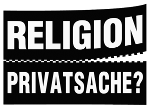 Religion Privatsache